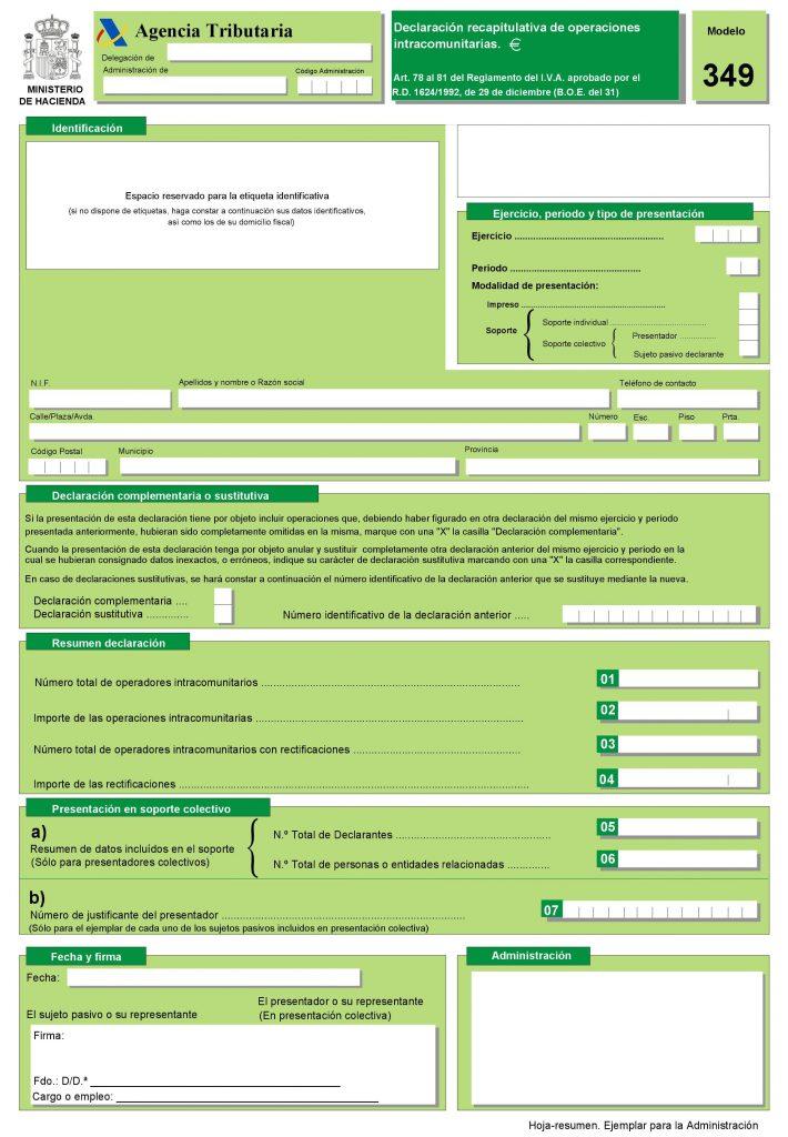 Descargar modelo 349 PDF